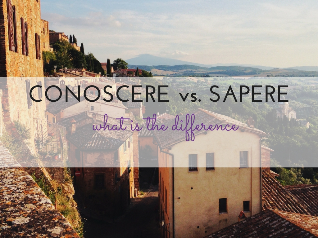 SAPERE VS. CONOSCERE. What is the difference?