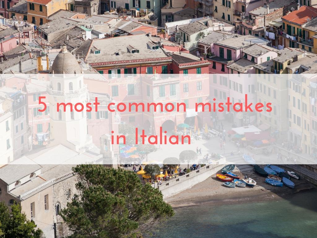 5 common mistakes beginners make when speaking Italian