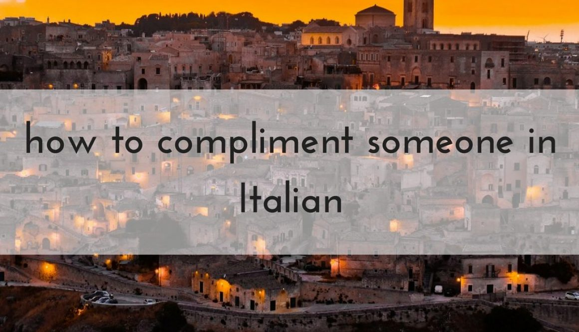 how to say things in italian