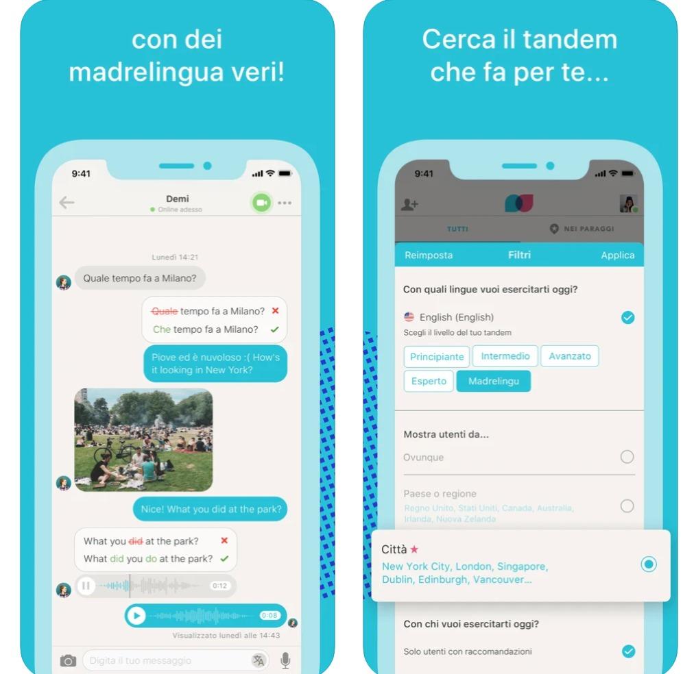 Italian language learning app